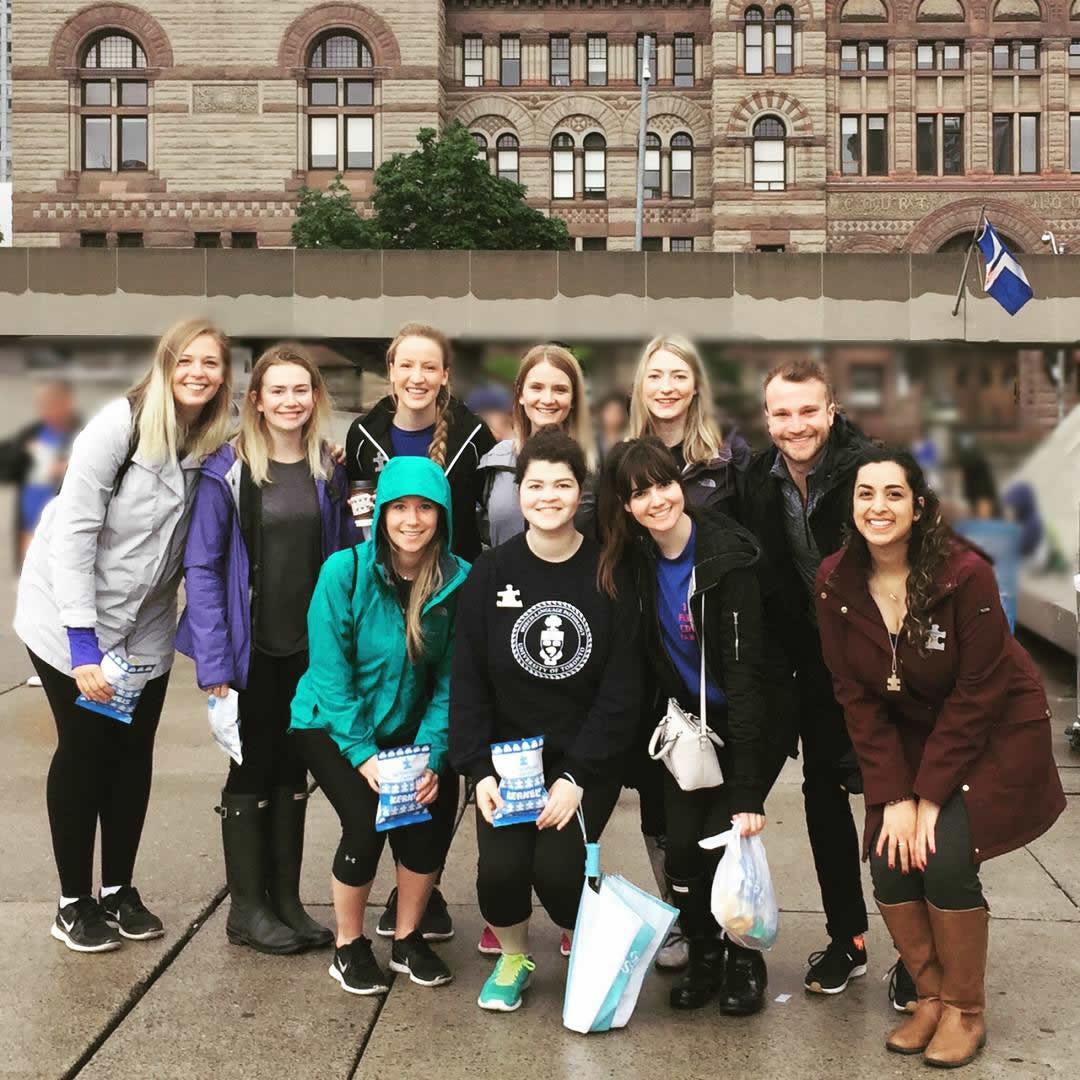 Pictured from left to right: (top) Hilary Mair, Amy Langridge, Amanda Martino, Julia Vincent, Keira Turik, Richard Holmes. (bottom) Danielle Sutton, Melanie Riva, Francesca Granata, Jenna Haji