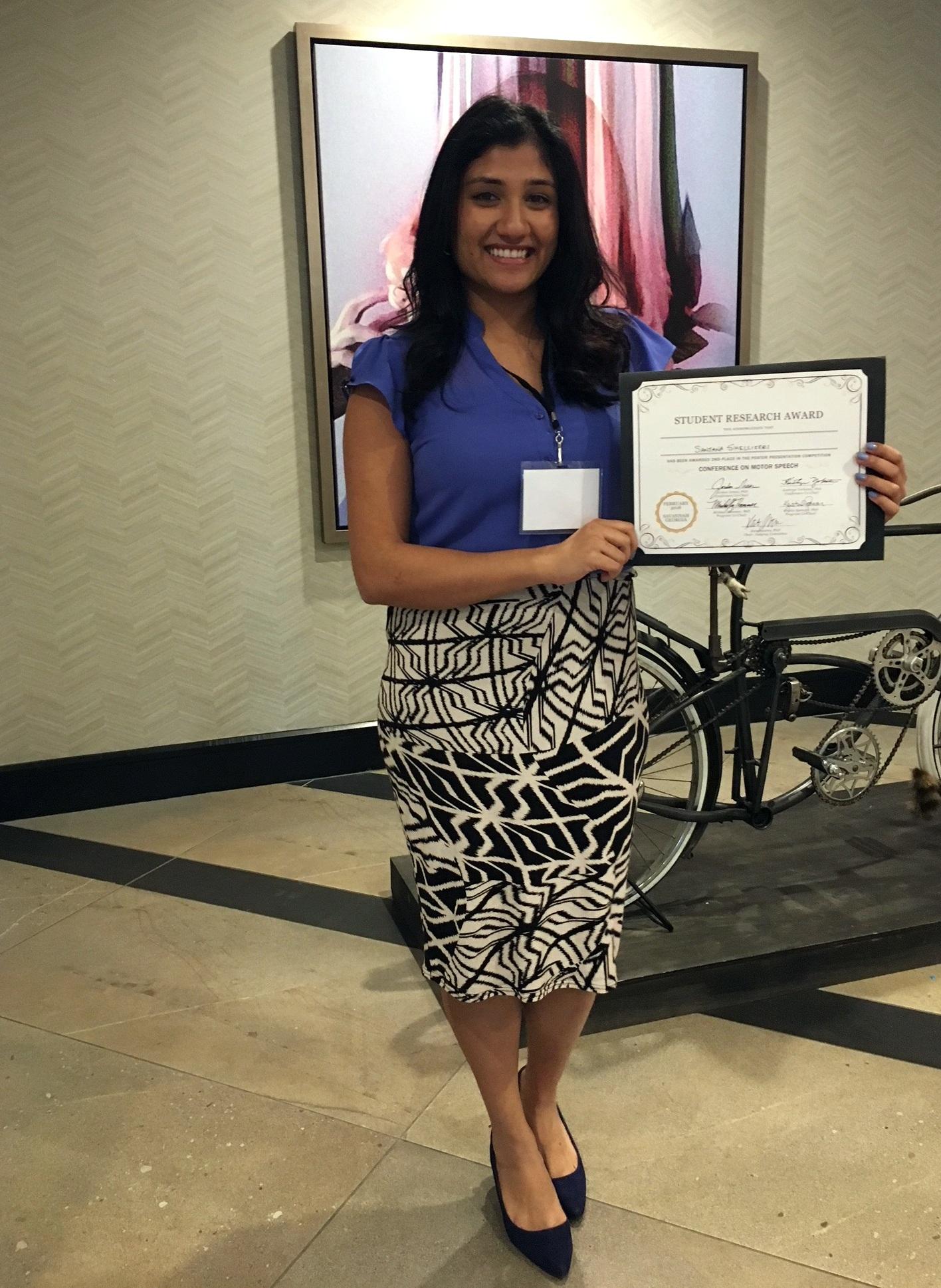 Sanjana Shellikeri, award